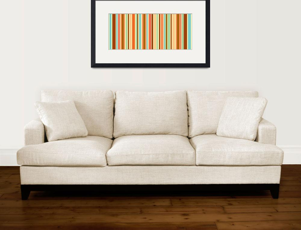 """Orange Sherbet Stripes&quot  by karynlewis"