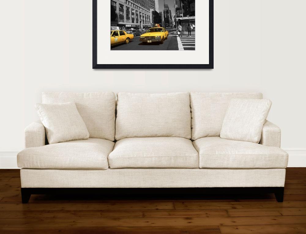 """Broadway Taxi Cabs - New York Highlight Photo Art&quot  (2016) by Art-America"