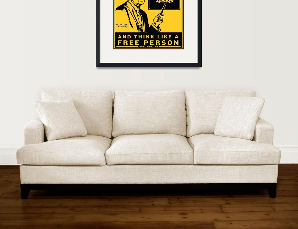 """read hayek yellow poster-04&quot  by libertymaniacs"