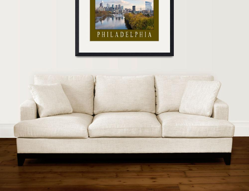 """Philadelphia Skyline - Philadelphia City Scape - F&quot  (2008) by Philadelphia_photographer"