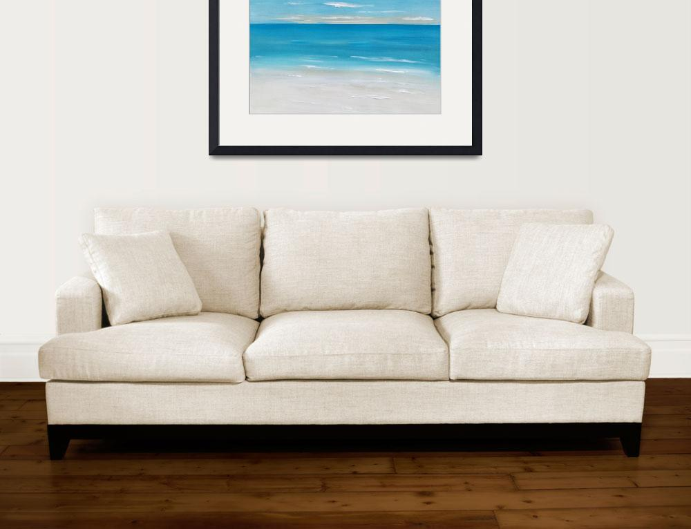 """Coastal Seascape&quot  (2016) by FradetFineArt"