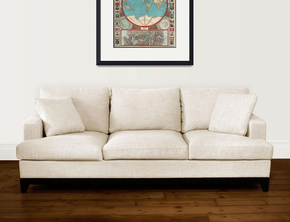 """Vintage Map of The World (1913)&quot  by Alleycatshirts"