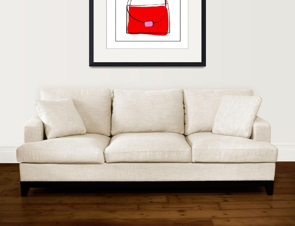 """Red Purse&quot  by artlicensing"