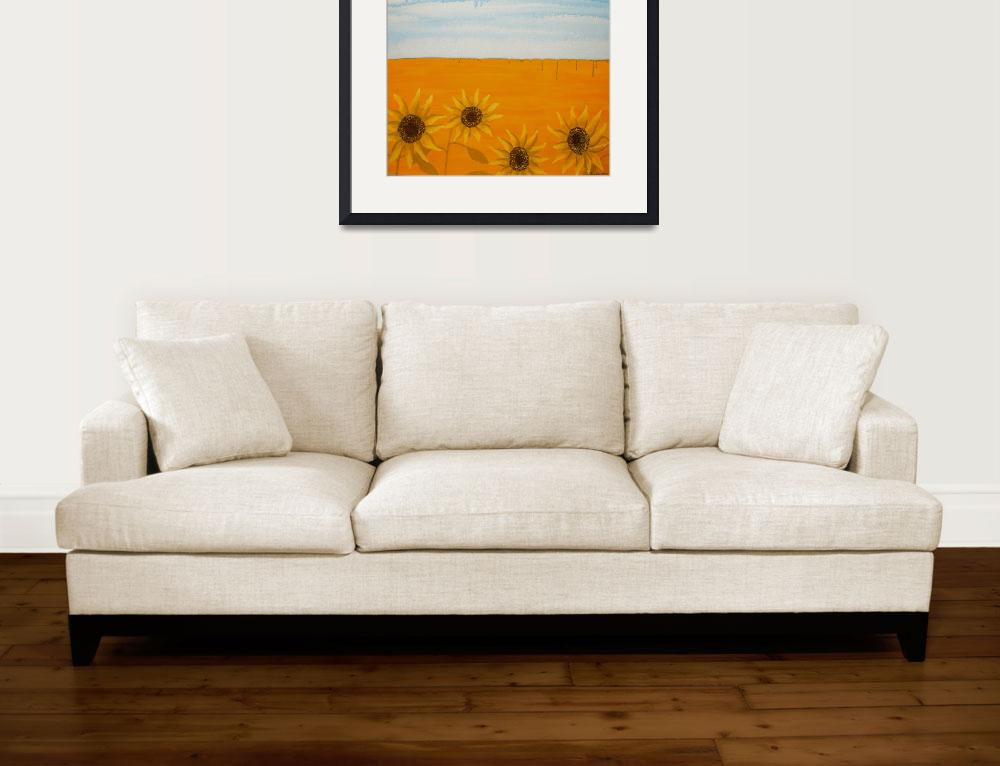 """DROUGHT BROKEN (Outback Australia)&quot  (2009) by RoseLangfordPrints"