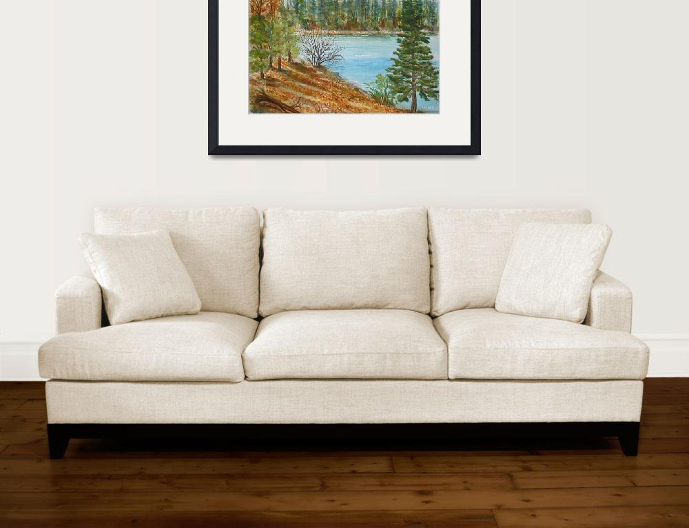 """Forebay in the Fall&quot  (2006) by MannellGallery"