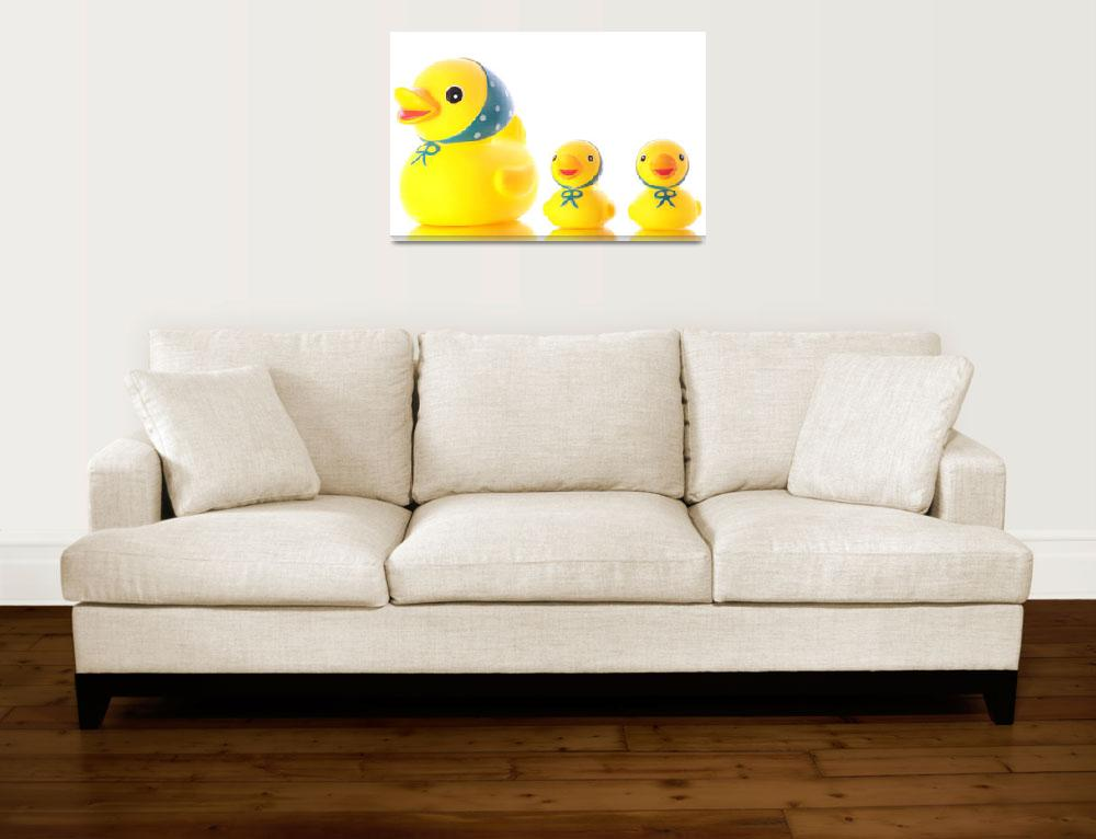 """Three yellow ducks (toys).&quot  (2008) by Piotr_Marcinski"