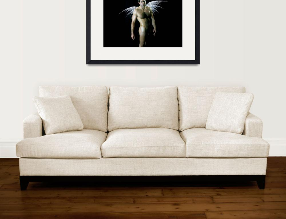 """Classic Male Nude Angel&quot  (1981) by BenTorresPhotographer"