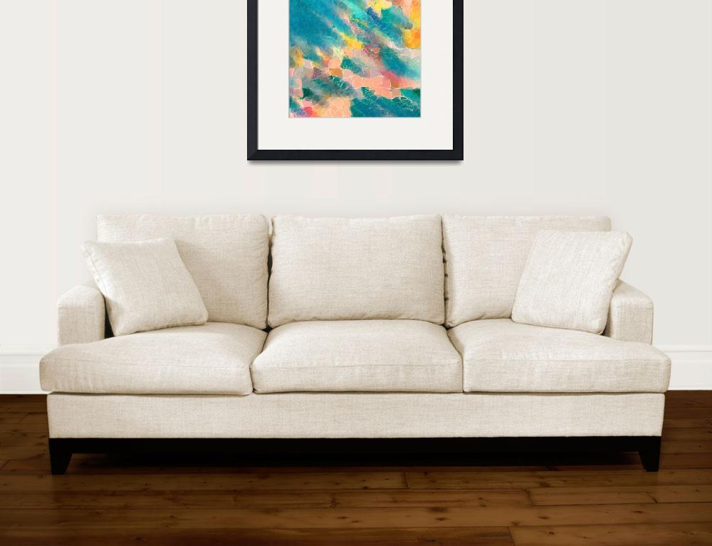 """Coral Sea. Modern Designer Art Decor&quot  (2012) by MarkLawrence"