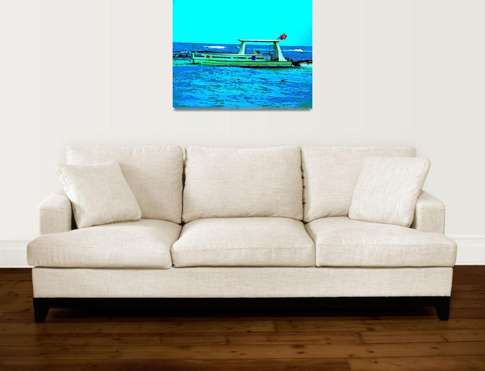 """Caribbean Scuba Diving Boat&quot  (2009) by Caribbean-Digital-Art"