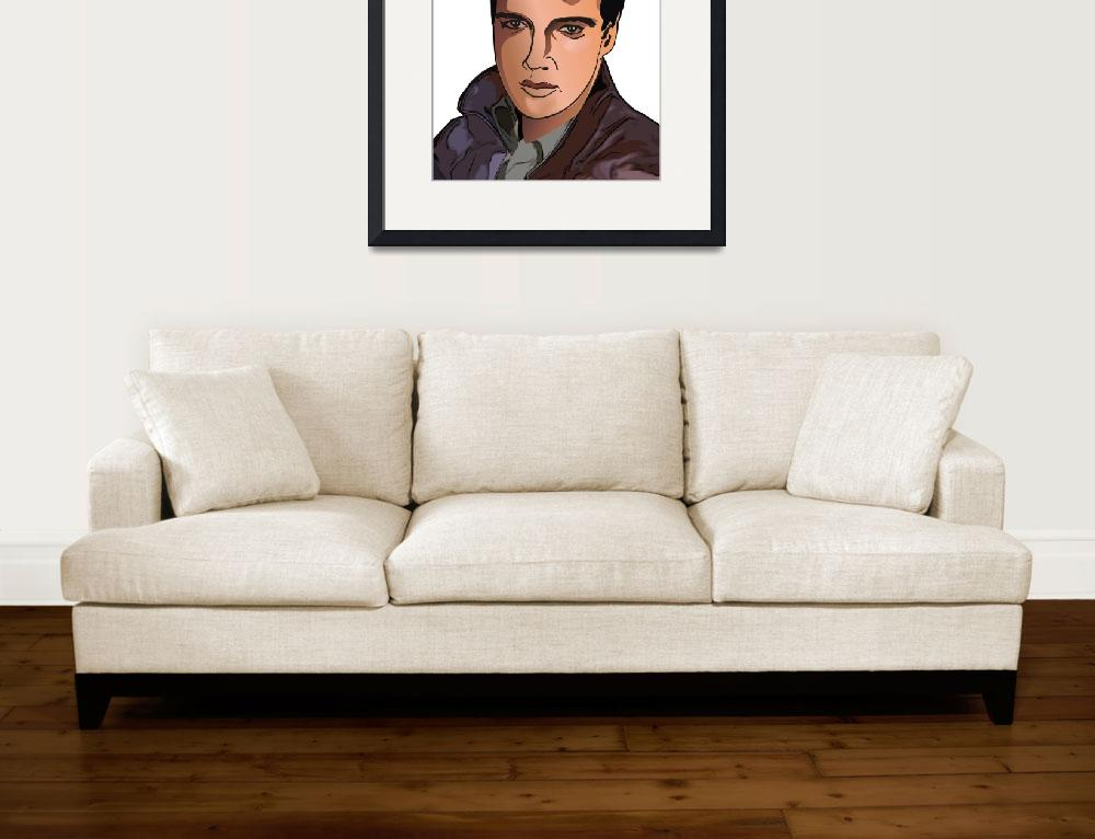 """cartoon avatar portrait of Elvis Presley&quot  (2012) by christ"
