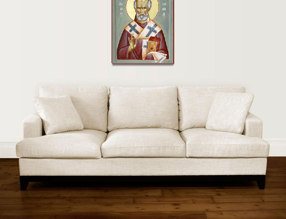 """St Nicholas of Myra&quot  (2011) by ikonographics"