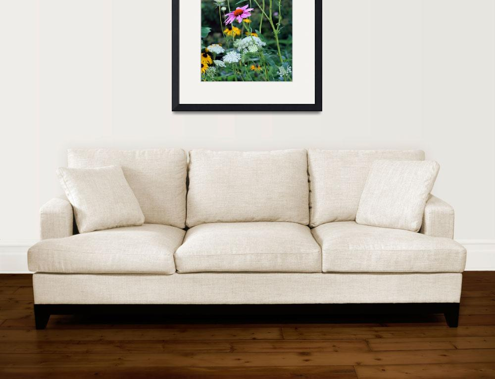 """Purple Coneflowers in Garden&quot  (2012) by KsWorldArt"