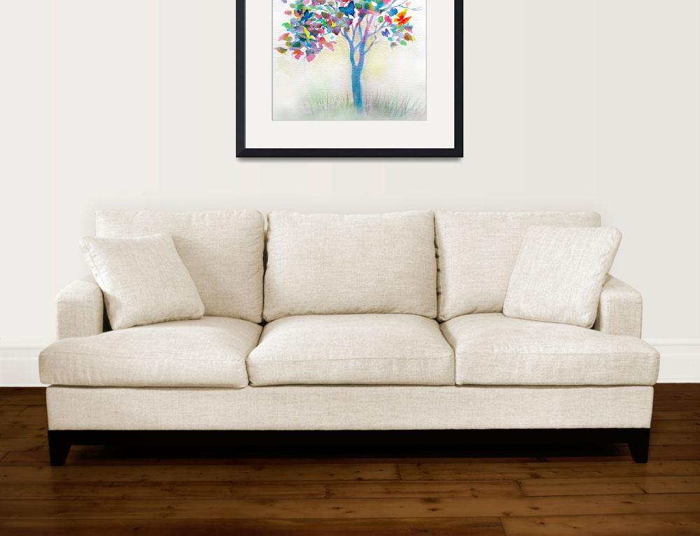"""Butterfly Tree&quot  (2012) by LindaBruceArt"