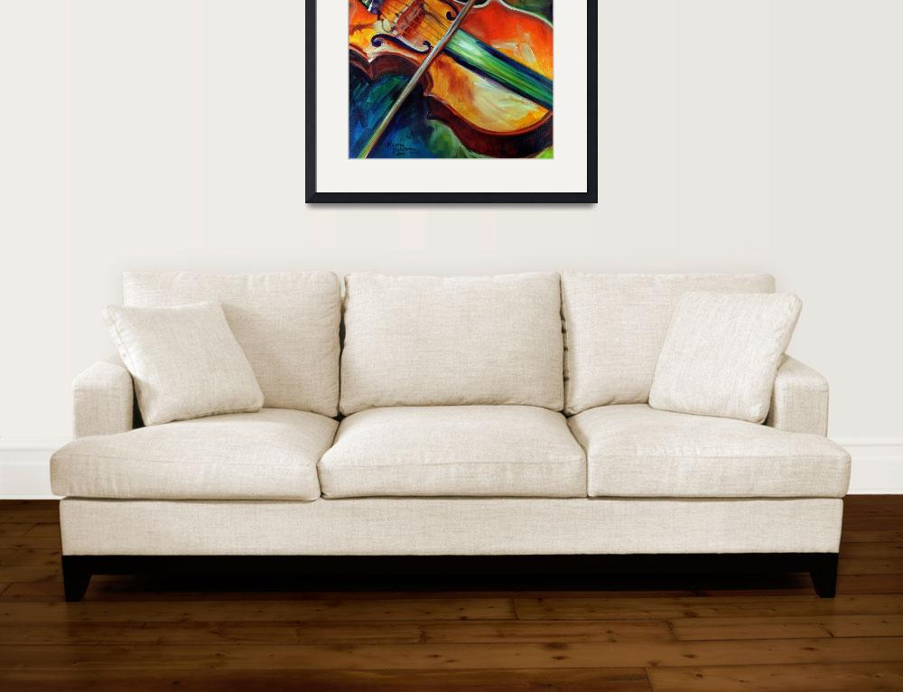 """VIOLIN ABSTRACT 06&quot  (2010) by MBaldwinFineArt2006"