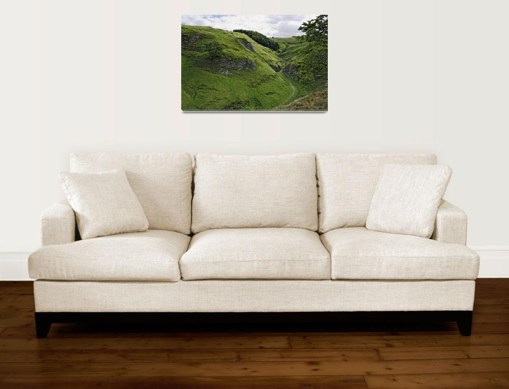 """Cave Dale from Peveril Castle (39495-RDA)&quot  (2013) by rodjohnson"