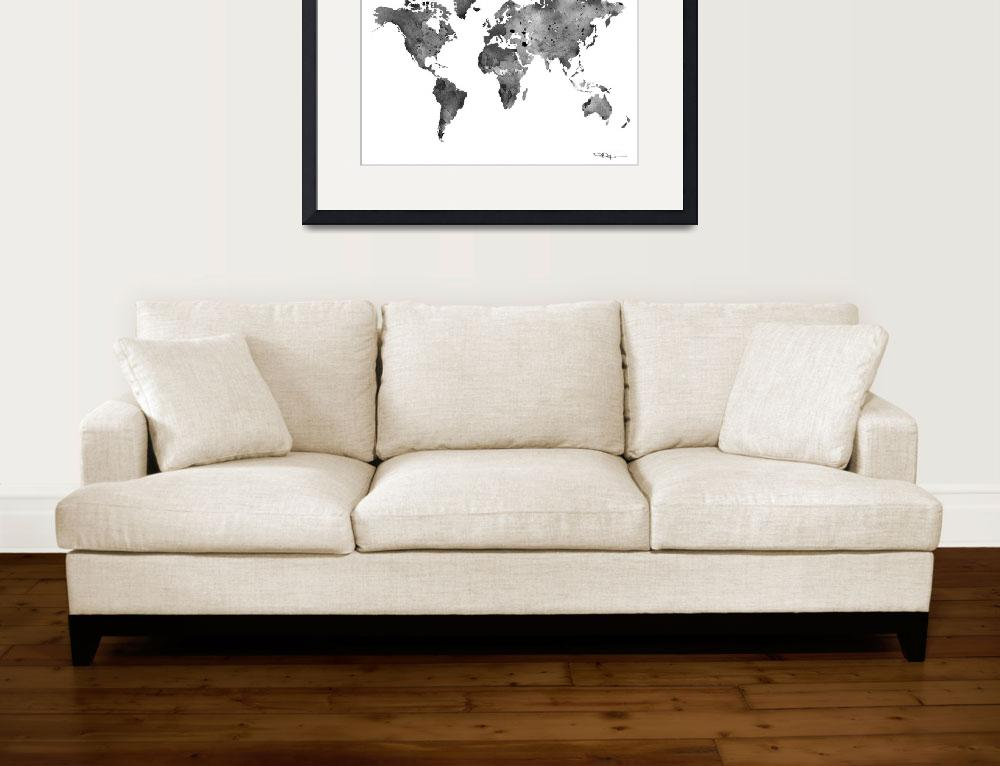 """World Map&quot  (2015) by k9artgallery"