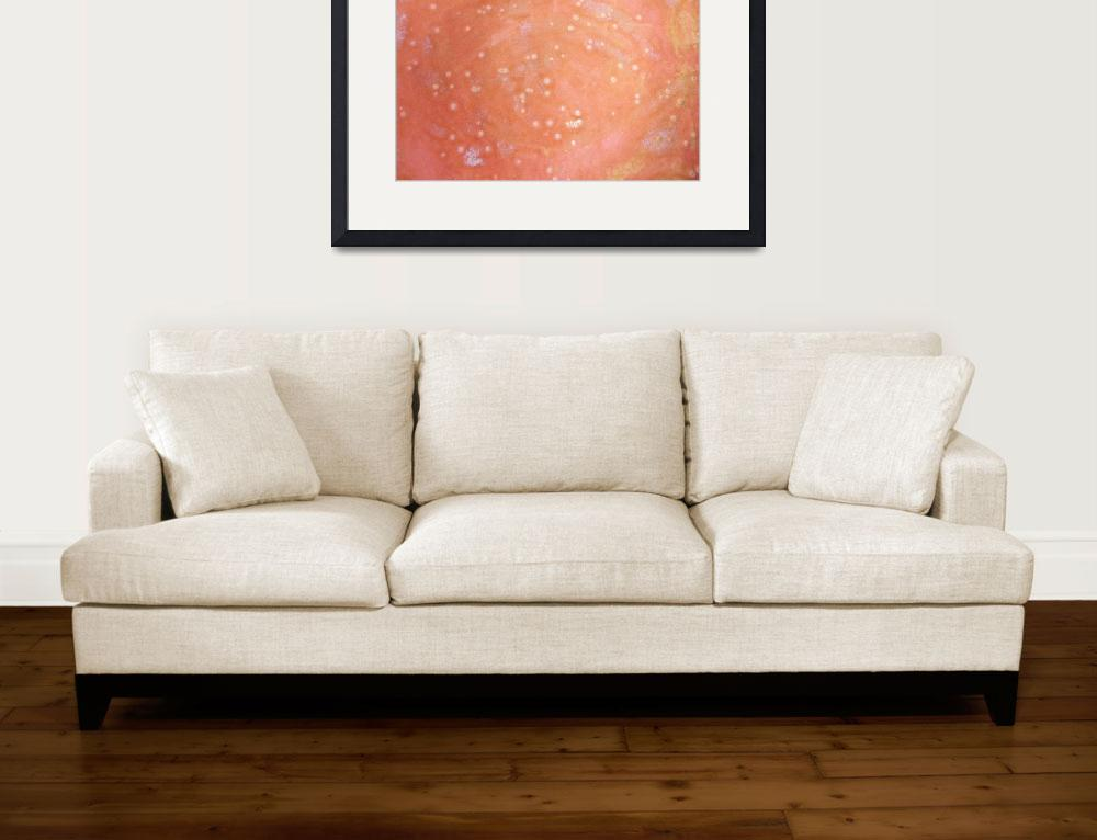 """12. Speckled Pink and White Abstract&quot  (2016) by maggieminordesigns"