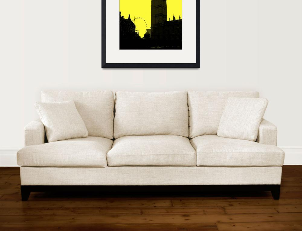 """London in Yellow&quot  (2013) by NKJEK"