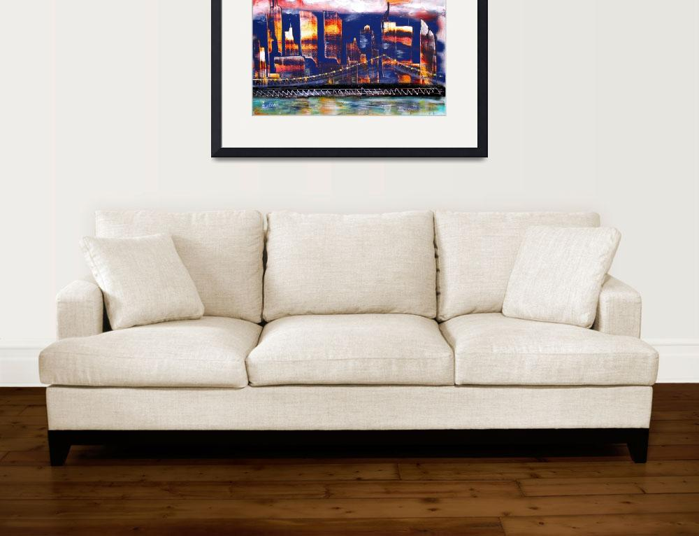 """The City - NYC Twin Towers commemorative art&quot  by galina"