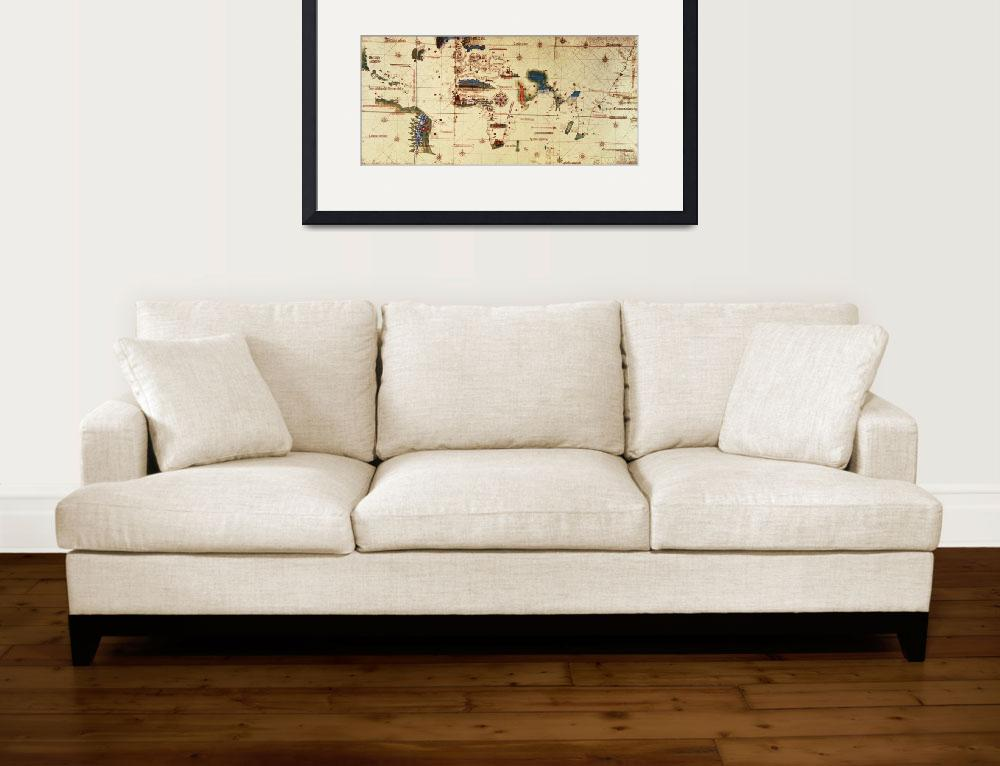 """Copy of Monumenta Cartographia, 1502 colour litho&quot  by fineartmasters"
