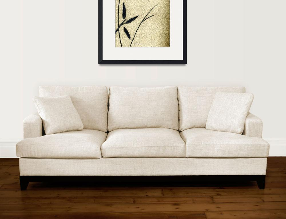 """Zen Sumi 4j Antique Motivational Flower Ink&quot  (2011) by Ricardos"