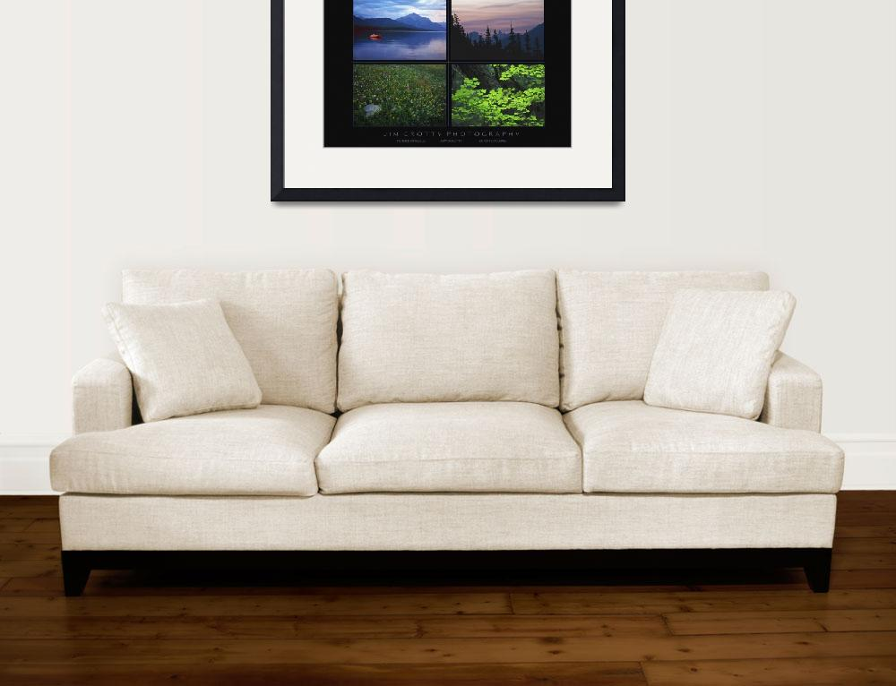 """Glacier National Park Poster Print by Jim Crotty&quot  (2009) by jimcrotty"