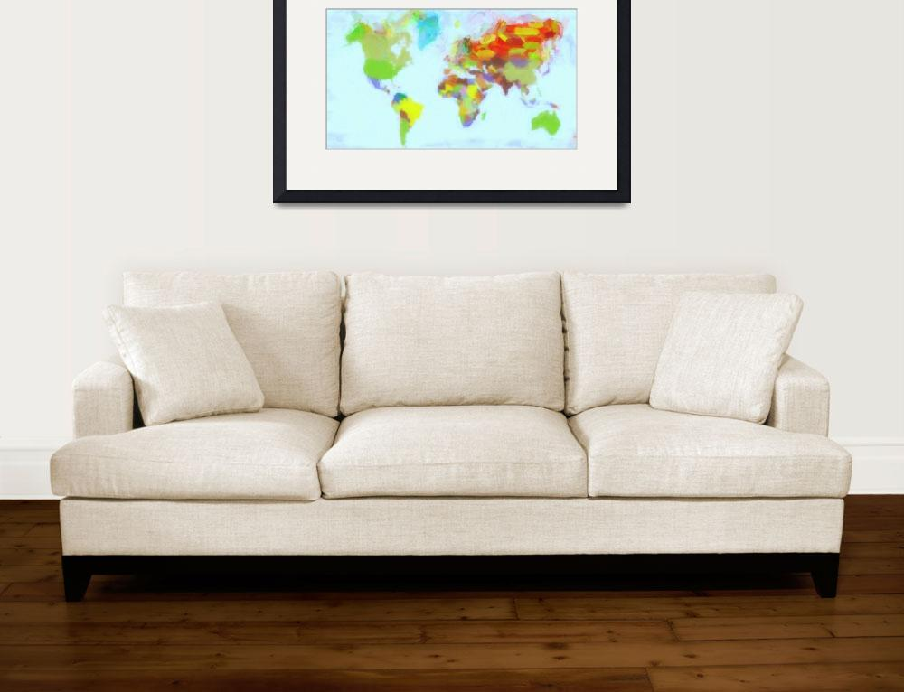 """World watercolor&quot  (2012) by motionage"