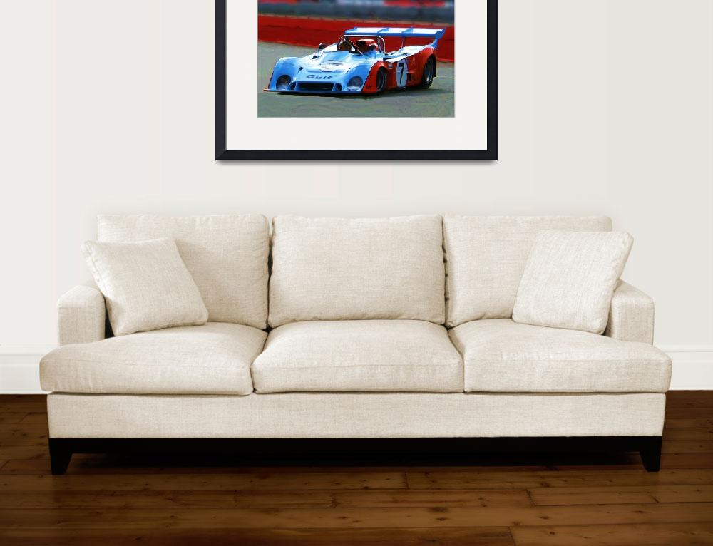 """Race car_Painting&quot  (2009) by jpgilmore"