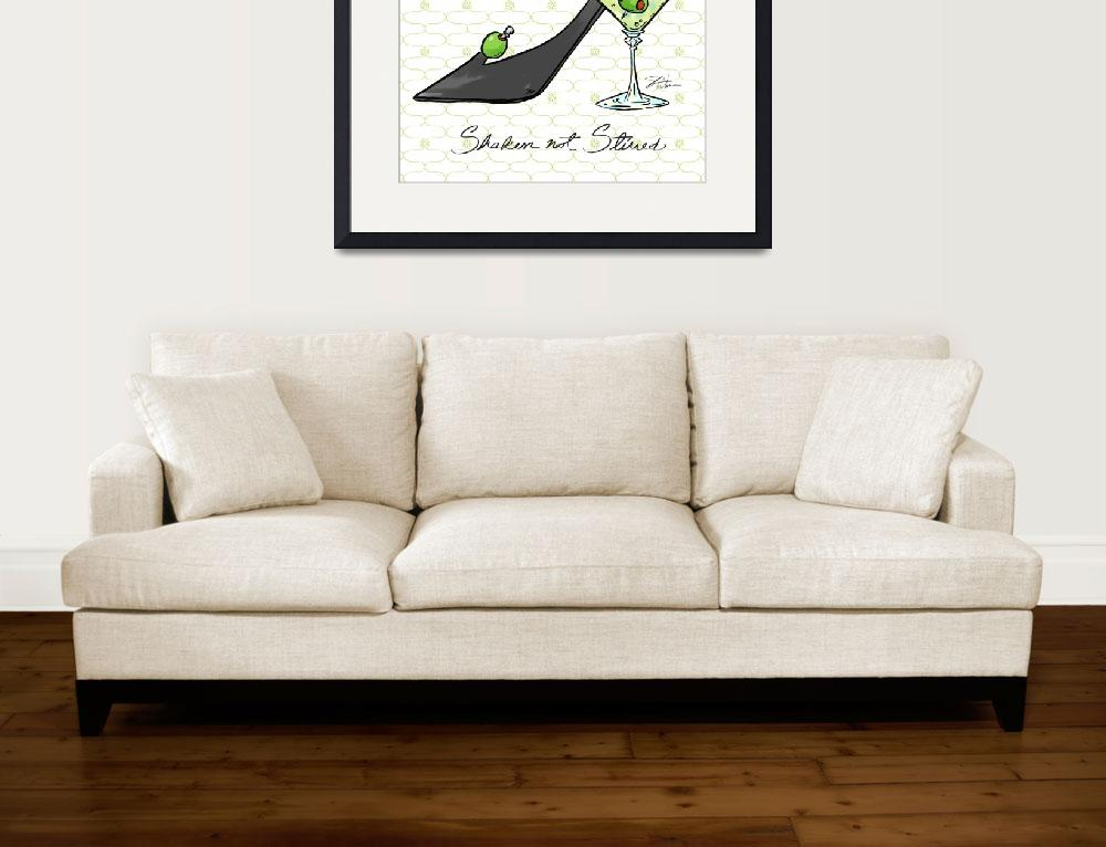"""Cocktail Shoes Martini&quot  (2011) by shariwarren"