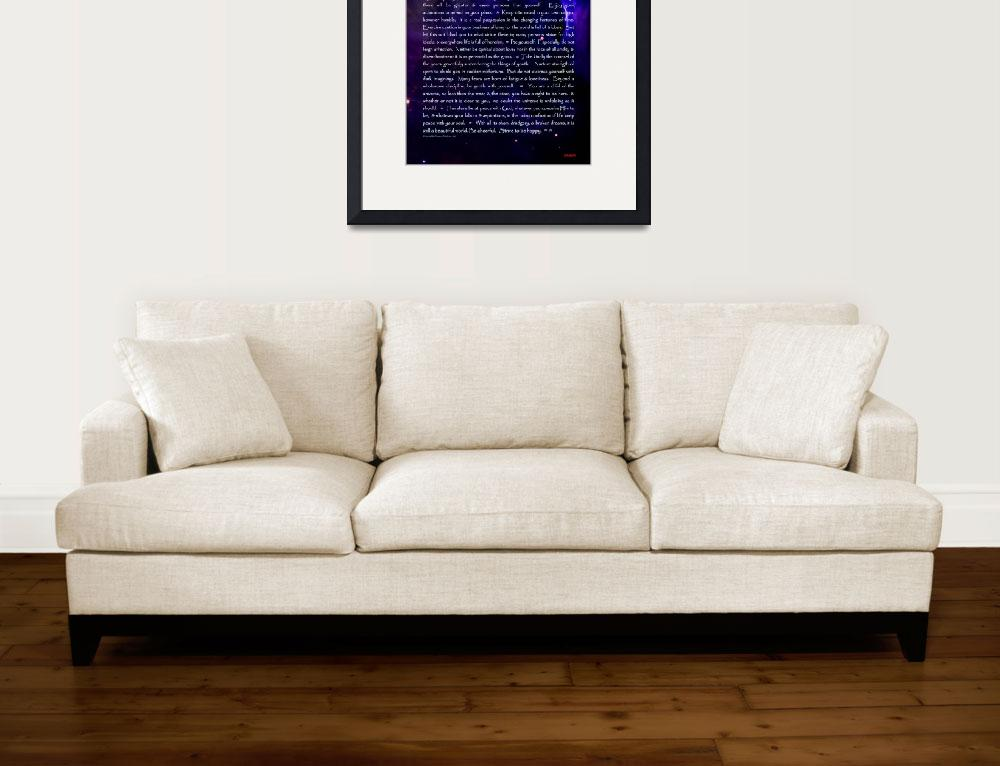 """Desiderata.blue text.12x18-sig&quot  (2013) by spiritual-life-randidone"