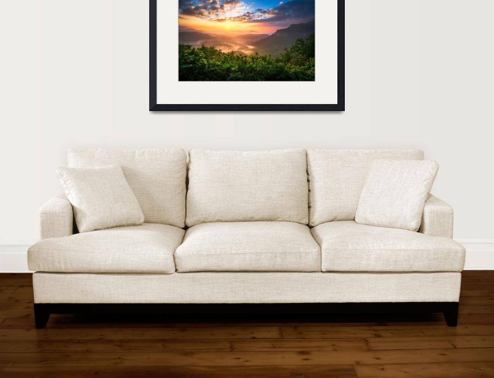"""Highlands Sunrise - Whitesides Mountain Landscape&quot  (2011) by DAPhoto"