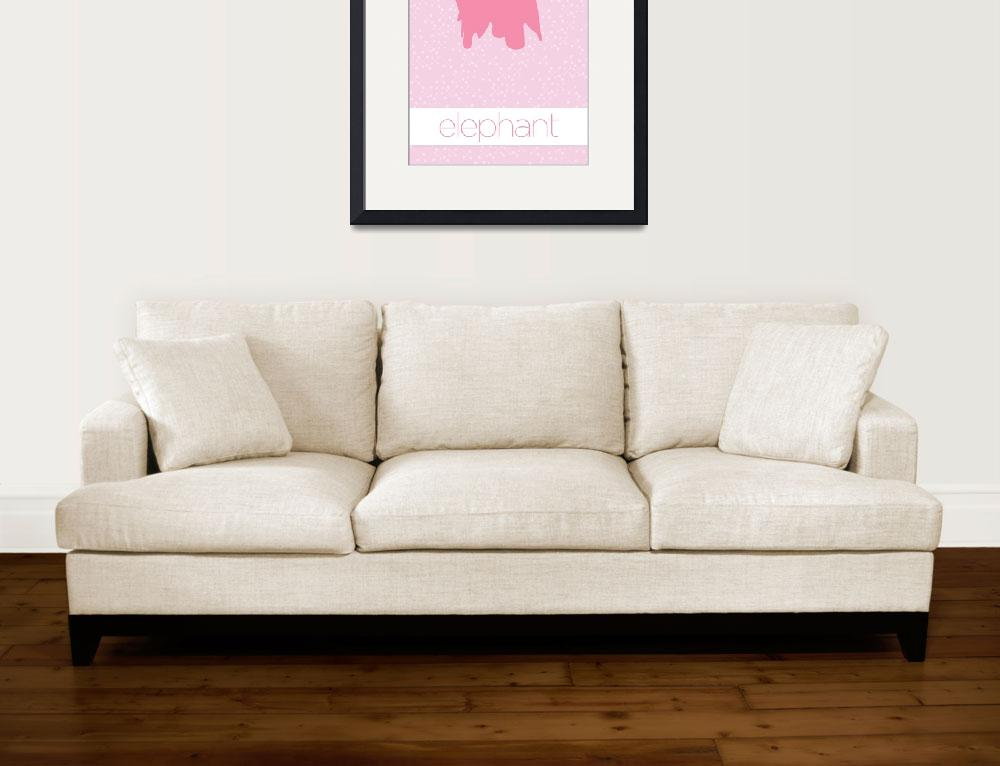 """Modern Furniture Elephant Nursery Baby Girls&quot  (2011) by kken"