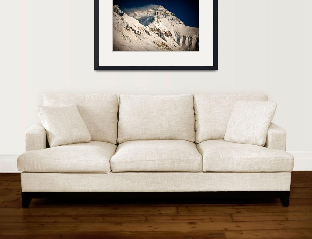 """Everest from BaseCamp Tibet after snow&quot  (2006) by ExposedPlanet"