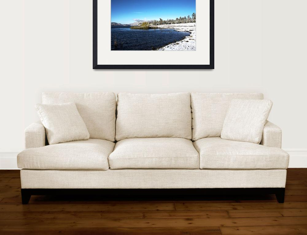 """North Shore of Big Bear Lake First Snow&quot  (2011) by KerstPhoto"