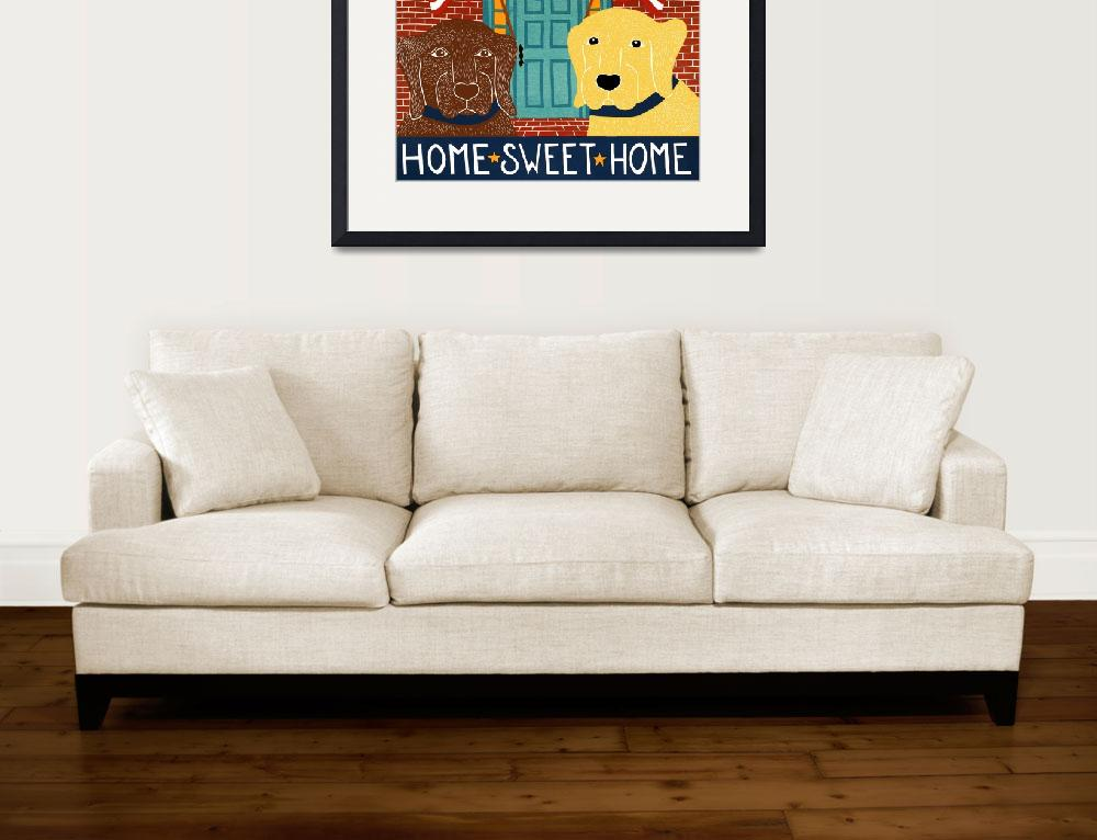 """Home Sweet Home Choc Yellow&quot  by artlicensing"