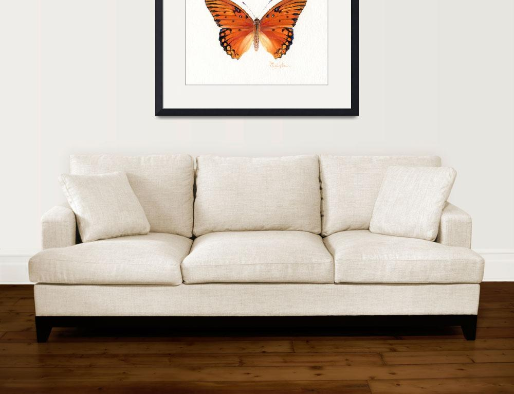 """Gulf Fritillary&quot  by LisaMclaughlin"