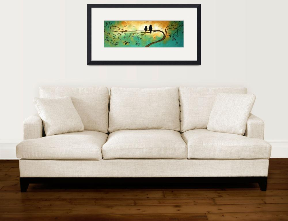 """Love birds Fine art Print by MADART&quot  (2008) by meganduncanson"
