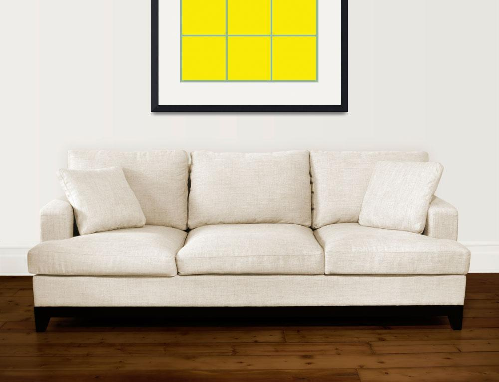 """Yellow Window 095 Canvas Contemporary Modern&quot  (2010) by Ricardos"