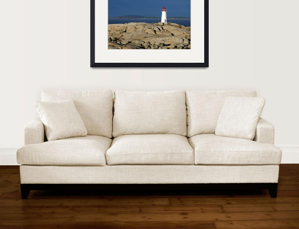 """Light House At Peggys Cove&quot  (2009) by brooking"