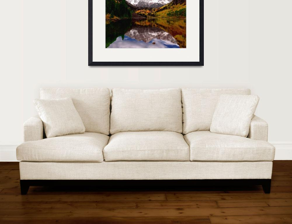 """Maroon Bells Faux Impasto&quot  (2009) by NewTake"