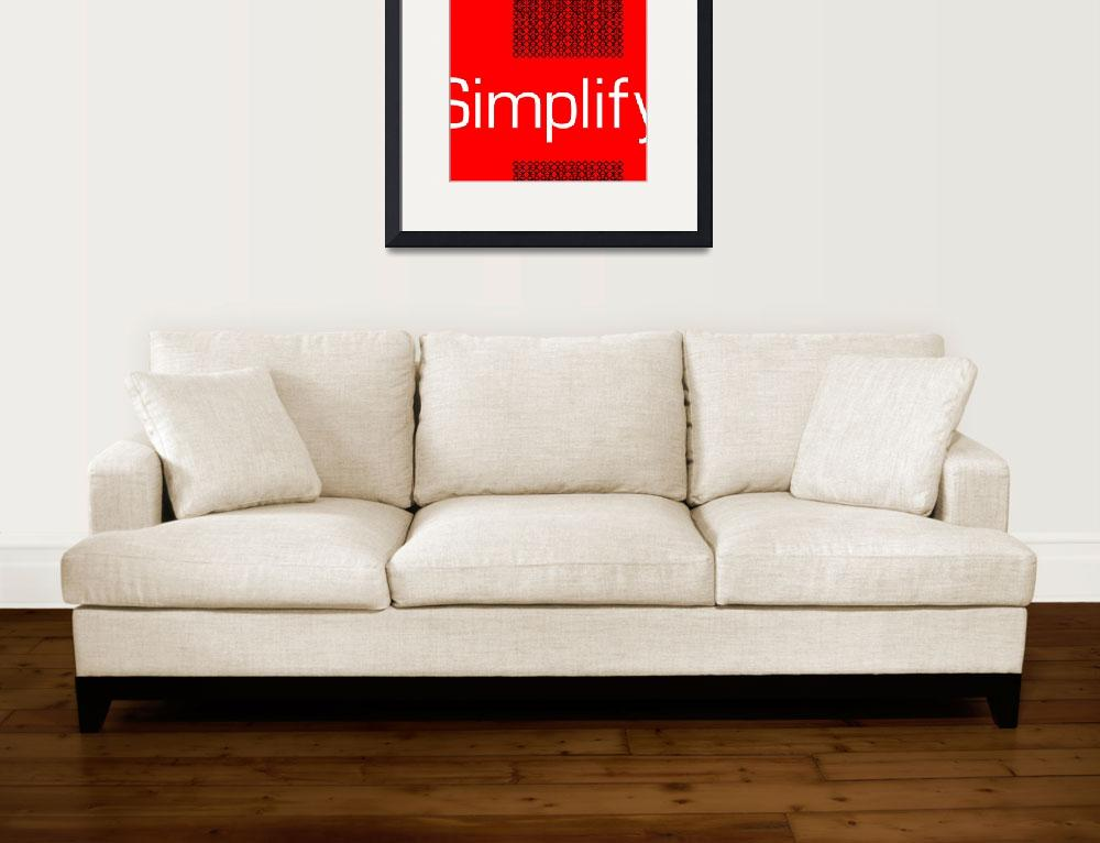 """Simplify&quot  (2011) by chrisperalta"