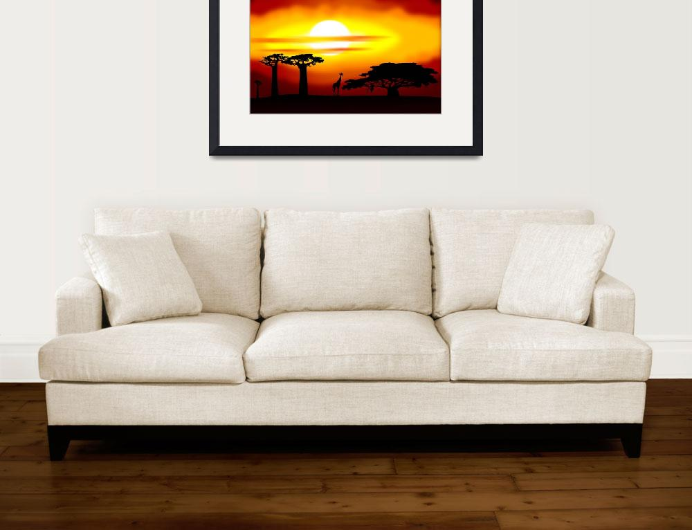"""Africa sunset&quot  (2011) by lamich"