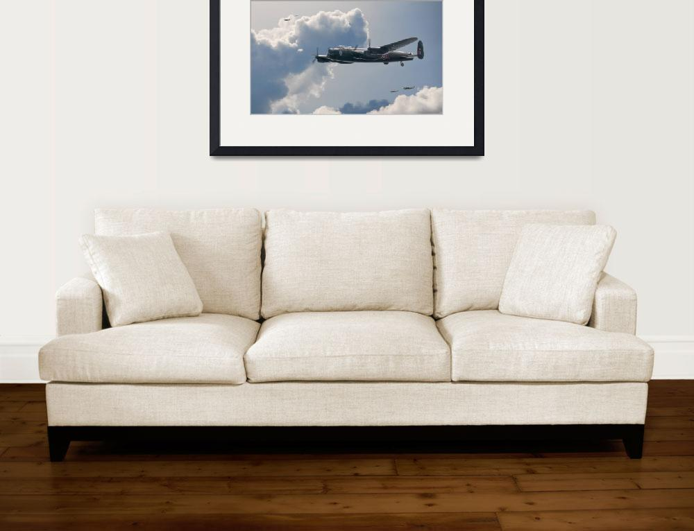 """Bomber Escort&quot  (2009) by JeffStephenson"