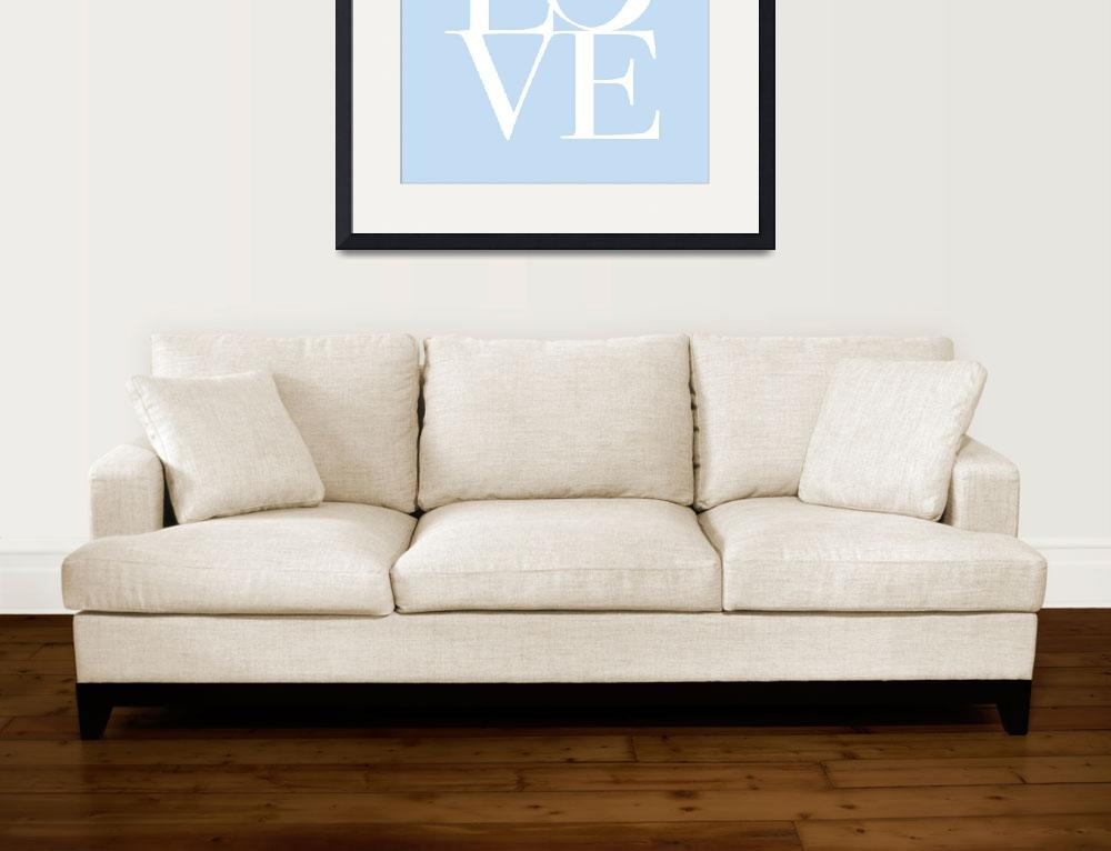 """Love in Baby Blue&quot  (2011) by ModernArtPrints"