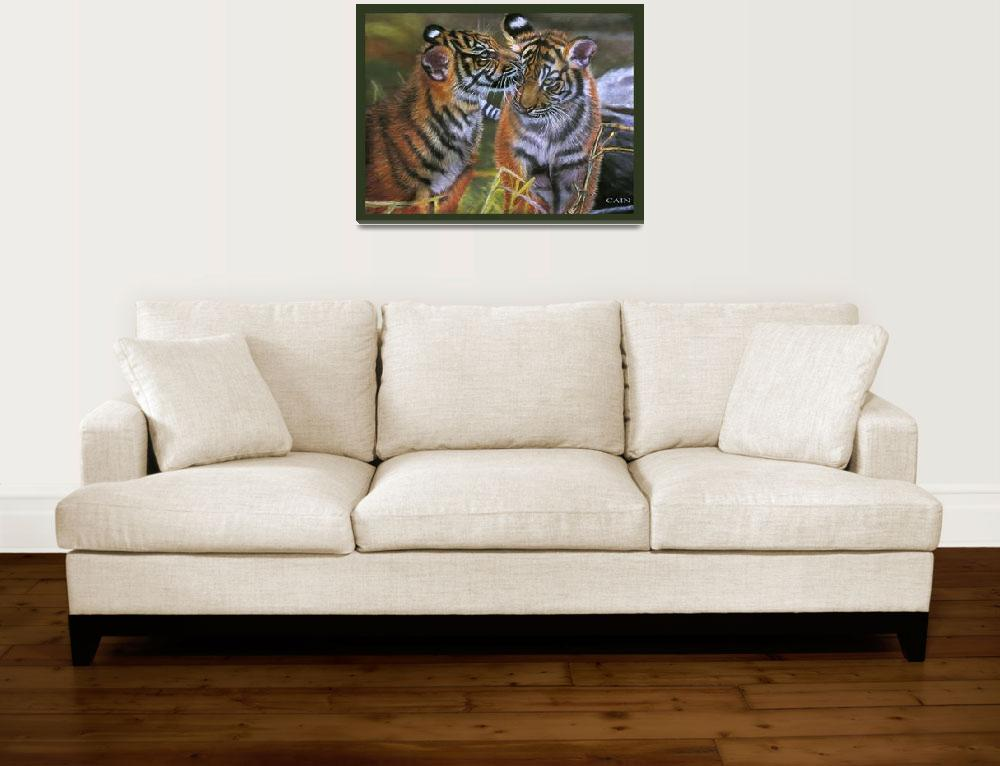 """TIGERS IN LOVE&quot  (2010) by artistcain"