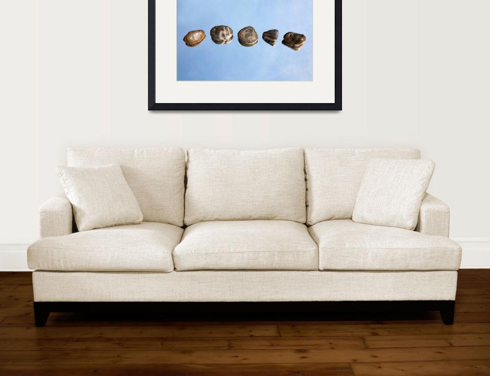 """Pebbles and Sky Reflection&quot  (2012) by NatalieKinnear"