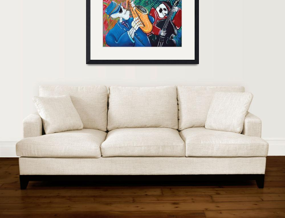 """The Bad Blues Bone Band&quot  (2012) by ArtPrints"