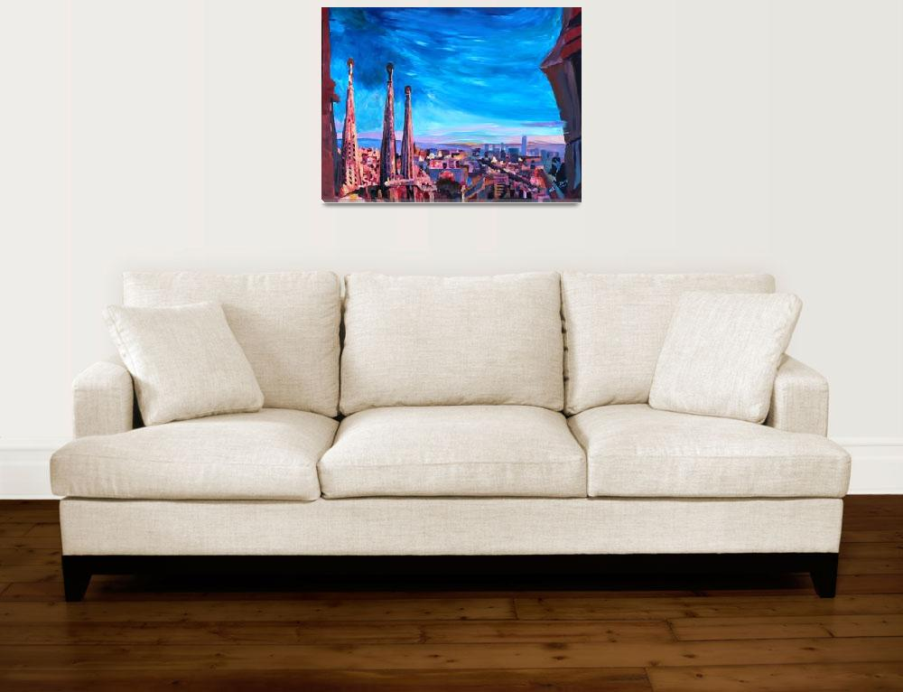 """Barcelona City View And Sagrada Familia&quot  (2013) by arthop77"