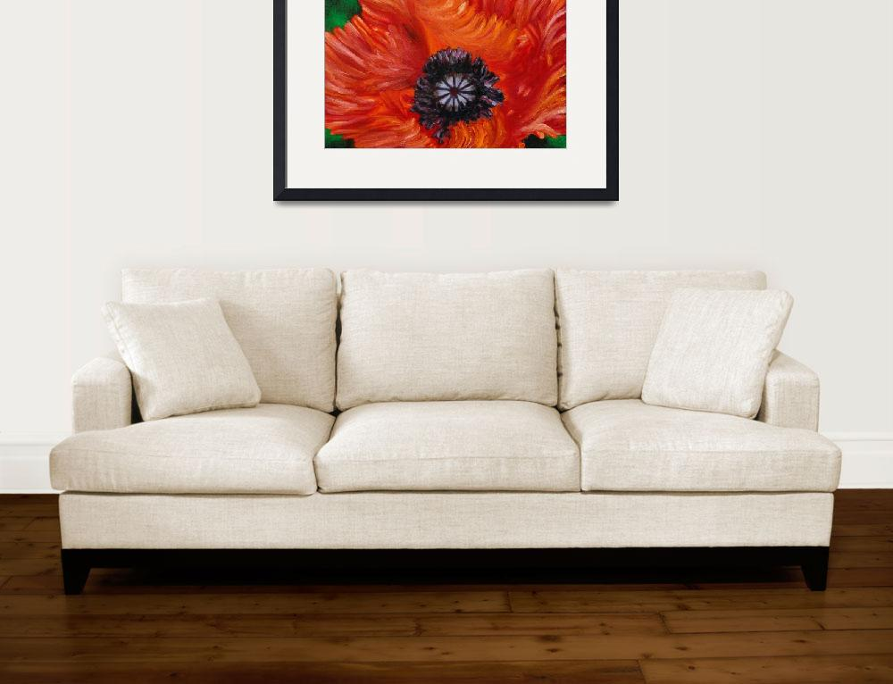 """Red Turkenlouis Oriental Poppy&quot  (2005) by evansonart"