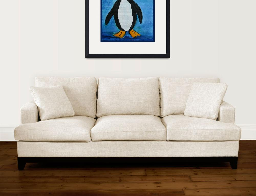 """Cute Penguin&quot  (2011) by paintingsbygretzky"